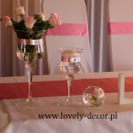 dekoracja sali weselnej pudrowy róż