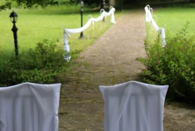 ślub w plenerze -dekoracja słoneczniki