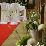 Dekoracje ślubne -Dekoracja alejki w kościele