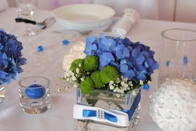 dekoracje weselne stół Państwa Młodych