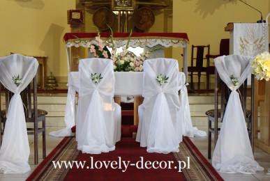 Ślub dekoracja kościoła