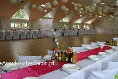dekoracje sal weselnych --sala w Humniskach