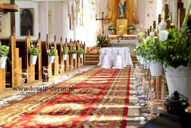 dekoracja kościoła  Miejsce Piastowe