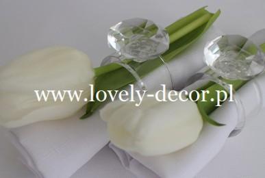 tulipany dekoracje sal weselnych