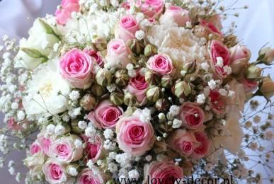 bukiet slubny z małej rózy eden