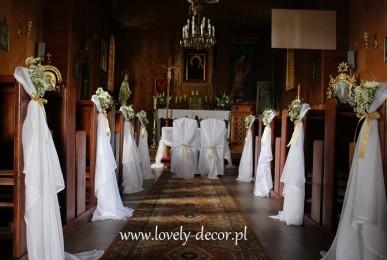 dekoracja kościoła na slub (2)