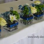 dekoracja stołu panstwa młodych