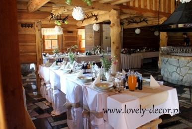 dekoracja weselna rustykalna, wiejska