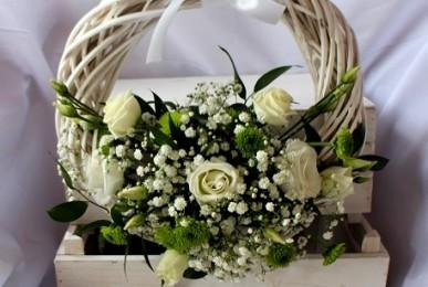 dekoracje weselne wianek