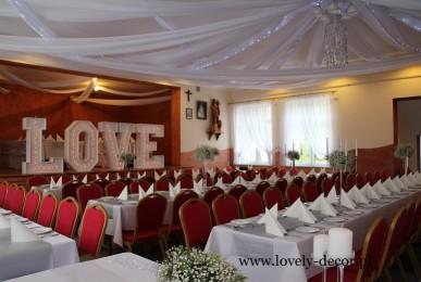 dekoracje weselne sala w futomie