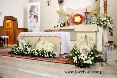 dekoracja kościoła w besku