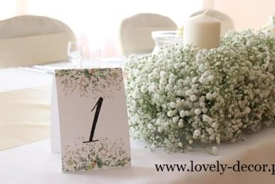 dekorcaje z gipsówki na weselu