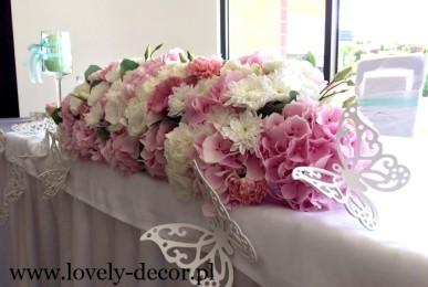 dekoracje sal weselnych hortensje