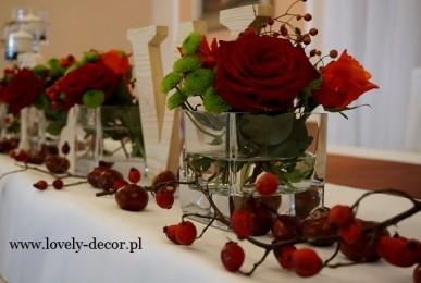 dekoracje weselne w jesieni