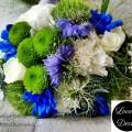 Bukiety ślubne w kolorze niebieskim