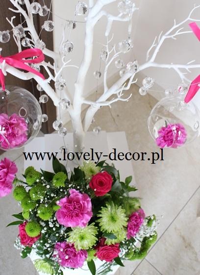 Białe Drzewka Na Weselu Dekoracjalovely Decor Lovely Decor