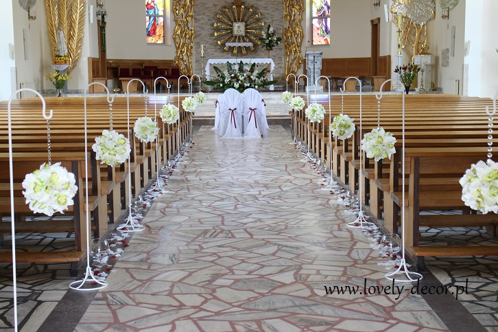 Dekoracja Kościoła Na ślub Waralovely Decor Lovely Decor